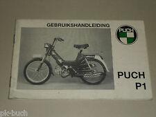 Betriebsanleitung Handbuch Handleiding Puch Mofa Bromfietsen P1 P 1