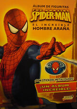 SPIDER-MAN incomplete album the amazing 112 stickers glueded  ARGENTINA 2006