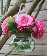 Vintage Chic&Shabby Hanging Glass Vase T Light Lantern Wedding Decoration Rustic