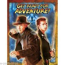 INDIANA JONES INVITATIONS (8) ~ Crystal Skull Birthday Party Supplies Cards Note