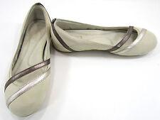 LaCoste Shoes Papillon Shine Tan/Beige/Brown Slippers Mismatch Womens 6/6.5