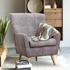 Modern Accent Fabric Chair Single Sofa Comfy Upholstered Arm Chair Living Room❤️