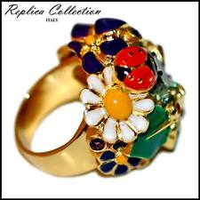 Enamel Flowers & Lady Bug Ring by Replica Collection sizes 6, 8.