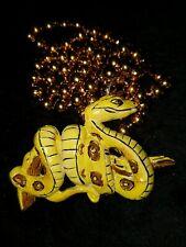 2002 Krewe of Bacchus Python Float Bead Mardi Gras Journeys Through Africa Snake