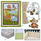 Little Bedding: Critter Pals 7-Pc Crib Bedding w/bumper Set by NoJo