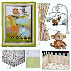Little Bedding: Critter Pals 7-Pc Crib Bedding (w/bumper) Set by NoJo