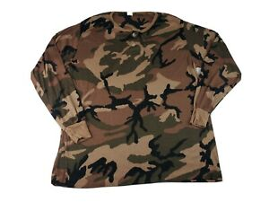 Vintage Cabela's Men's Camo Thermax Lightweight Thermal Sweater Sz XXL USA Made