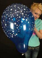 """5 x 16"""" Qualatex STARS-A-ROUND Luftballons in gemischten Kristallfarben"""