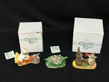 Lot 3 Charming Tails Dean Griff Figurines Pumpkin Pie, Want a Bite, Two Peas Pod