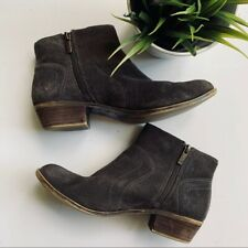 LUCKY BRAND Brolley Brown Suede Ankle Boots Booties Women's 7.5