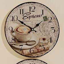 Wanduhr Coffee - D 34 Cm Glasuhr Küchenuhr