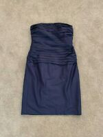 Lauren Ralph Lauren Womens Raw Silk Dress Size 6 Lined Strapless Cocktail Dress