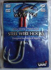 Hameçons jig Williamson Steel Wire Hooks 6/0 8,2cm