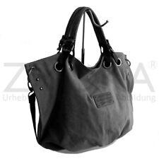 Bag Street - Canvas Damen Handtasche Damentasche Schultertasche - Grau