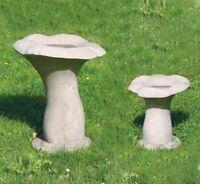 - Vogelbad LUTON SET frostfest englischer Sandstein 48+30 cm  34+11kg Steinguss