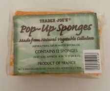 Trader Joes 12 Count Pop-up Sponges BRAND NEW