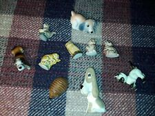 Wade whimsies Plus Others Job Lot Bundle Squirrel Owl Headgehog Dog Cat Bear