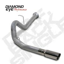"Diamond Eye K4130A 4"" D.P.F. Back Exhaust, Single, Alum, For 07-10 Chevy"