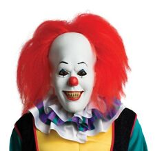 Pennywise It Latex Mask Scary Killer Clown Adult Men's Movie Costume Accessory