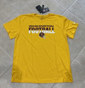Washington Football Team Nike NFL 2021 Dri Fit Gold Training T Shirt Mens XL