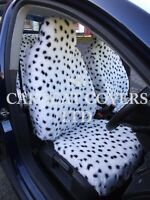 i - TO FIT A SKODA SUPERB CAR, SEAT COVERS, 2 FRONTS, DALMATIAN FAUX FUR