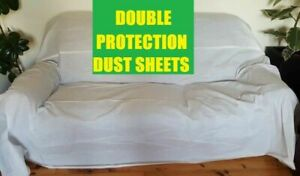 3 x PP DIY DECORATING WATERPROOF DUST SHEETS PAINTING DECORATING (12/9- 3 PACK )