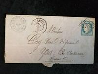 Frankreich 12.12.1875 (?) - Brief  Freimarke:Freimarken: Ceres.  REPUB.FRANC.