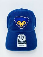 Chicaco Cubs 47 Brand Clean Up Adjustable Hat Dad Cap MLB Blue Cooperstown New