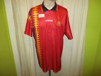 """Spanien """"RFEF"""" Adidas Europameisterschaft Qualifikation Trikot 1994-1996 Gr.XL"""