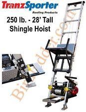TranzSporter TP-250 Roofing Shingle Hoist 28' Tall 250 lb - 4.0 Lifan Gas Motor