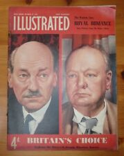 ILLUSTRATED MAGAZINE 27TH OT 1951 WINSTON CHURCHILL CLEMENT ATTLEE FRONT COVER
