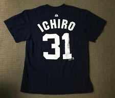 NY Yankees ICHIRO #31 Vintage blue tee shirt Majestic 100% Cotton Med