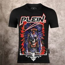 Philip Plein Teschio T-shirt Originale Maglietta Philipp maglia Space Cowboy