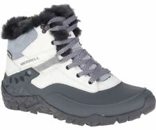 Merrell J37224 Women's Aurora 6 Ice+ Waterproof Winter Boot Ash White Size 7.5