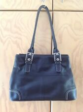 Cellini Black Genuine Leather Shoulder Bag
