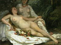 Gustave Courbet Nude Giclee Art Paper Print Paintings Poster Reproduction
