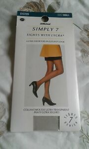 VINTAGE ST MICHAEL SIMPLY 7 TIGHTS WITH LYCRA  ULTRA SHEER  SIZE SMALL
