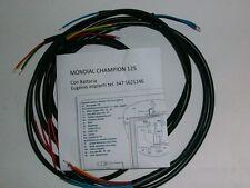 IMPIANTO ELETTRICO ELECTRICAL WIRING MONDIAL CHAMPION 125 CON BATTERIA+SCHEMA