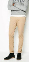 Jack Wills DALBY SKINNY CHINO Trousers Mens Stone 32W R  *REF160