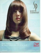 PUBLICITE ADVERTISING 116  2004   Wella system Professional  produits coiffure