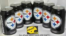 6-PACK 2016 BUD LIGHT PITTSBURGH STEELERS NFL KICKOFF BEER CANS FOOTBALL SPORTS
