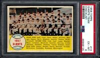 1958 TOPPS #19 NEW YORK GIANTS TEAM CHECKLIST - PSA EX-MT 6