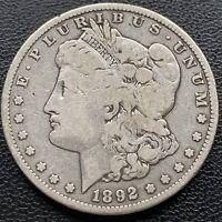 USA 1892 S Morgan Dollar Silber Selten Umlauf- Erhaltung Sammlerstück  #22460