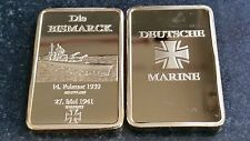 DIE BISMARCK 1939 Tedesco Oro Bar Souvenir DEUTCHE Marine Cross