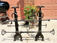 andirons antique vintage blacksmith forged fireplace