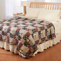STARS & STRIPES FLAG PATCHWORK BEDROOM QUILT TWIN FULL QUEEN KING SIZE BRAND NEW