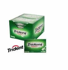 TRIDENT SPEARMINT Soft Chewing Gum Packet Packs Sugar Free FULL BOX