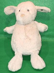 Steiff Soft Buster Plush Floppy Baby Puppy Dog Gray Tan Nose Sewn Eyes Lovey