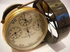 Medidor de velocidad de flujo de aire en caja de madera WW1 John Trotter
