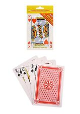 LARGE JUMBO PLAYING CARDS PLASTIC COATED PACK FULL DECK FOR KIDS OR ADULTS GAME